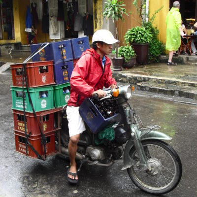 Vietnam, delivery man in Hoi An