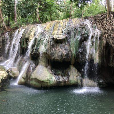 Guatemala, steaming hot waterfalls