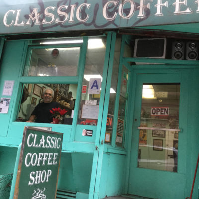 Carmine, owner of Classic Coffee Shop in NYC, described at book's p. 220