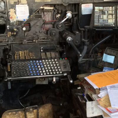 World's last Linotype to produce newspapers, Saguache, Colorado
