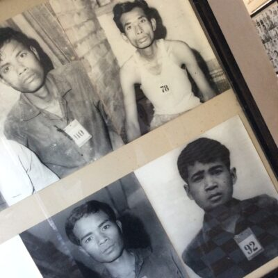 Prisoners of Pol Pot before death at a Killing Field