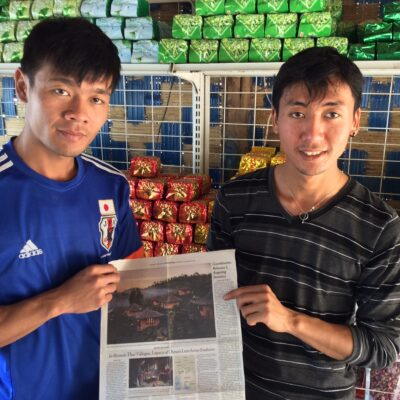 Grandsons of anti-Mao Chinese fighter read N.Y. Times story about their village