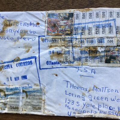 Mario's letter from Peru to Tom